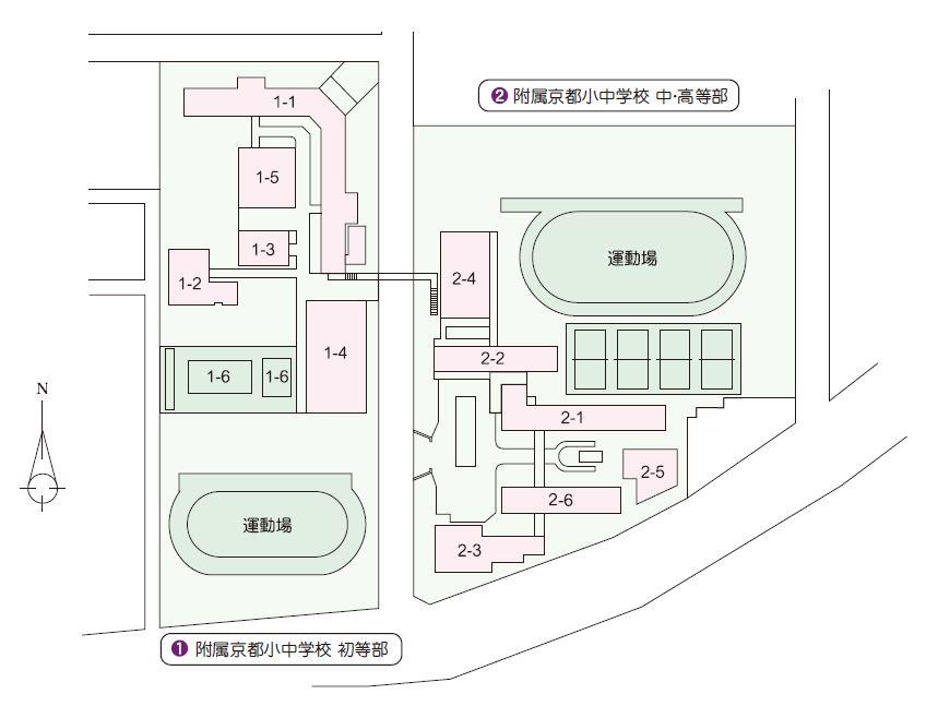 附属京都小中学校マップ